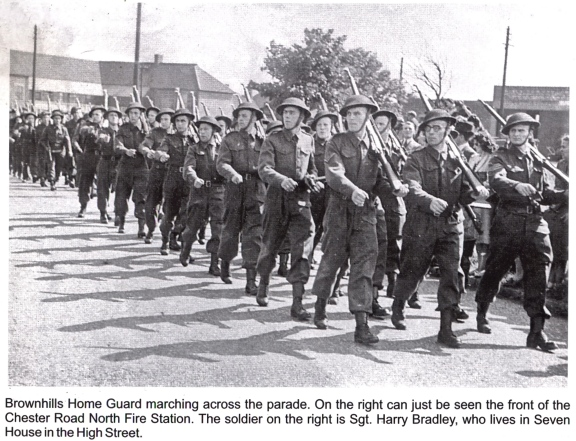 The Home Guard were not just about civil defence, but about public morale and a sense of duty to the community. I'd love to know if any readers' relatives are in this neat parade? From 'Memories of Brownhills Past' by Clarice Mayo and Geoff Harrington.