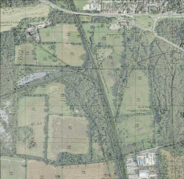 Ordnance Survey 1884 1:2,500 map segment overlaid on Google Earth