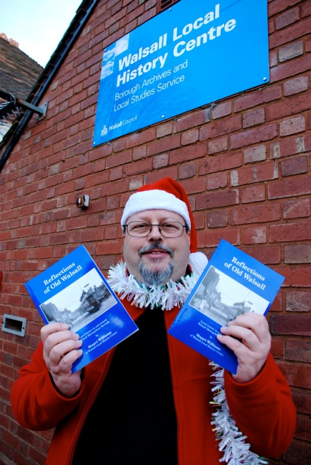 Stuart Williams with the new book Reflections of Old Walsall - hot off the press