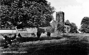 St. Mary's Church, The Croft and farm, Aldridge, early 1900s