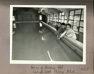 Walsall Wood Primary School swimming pool opening 1968