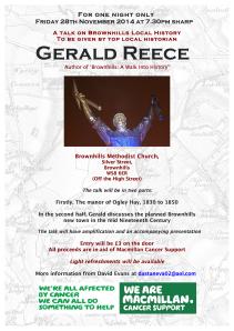 Gerald Reece flyer