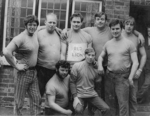 Red Lion tug of war team