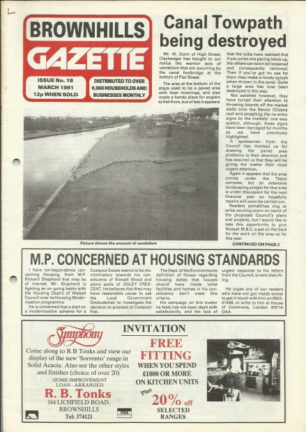 Brownhills Gazette March 1991 issue 18_000001