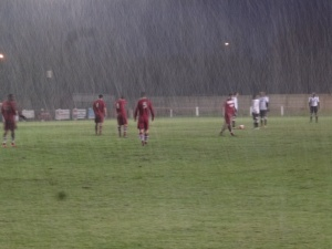 And eventually the match was abandoned, after 25 minutes of the second half played, and with the scores at 2 – 2. Image kindly supplied by David Evans.