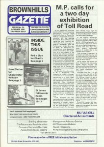 Brownhills Gazette October 1991 issue 25_000001