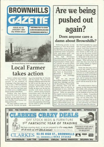 Brownhills Gazette January 1994 issue 52_000001