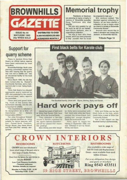 Brownhills Gazette May 1993 issue 44_000001