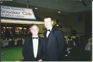 With Steve Davis