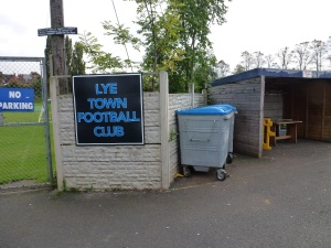 Lye played in dark blue, Walsall Wood played in sky blue