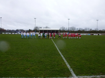 A blustery February afternoon at Oak Park . Westfields played in white and blue