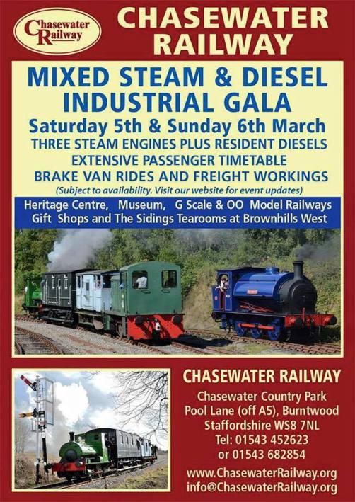 Chasewater Railway Industrial Gala This Weekend