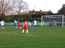 Early foray in to the Lichfield penalty area.