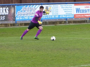 Long Eaton at work as he sets up another challenging move with this long goal kick