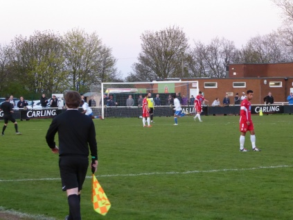 Lichfield score their first goal in the first half.