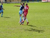 Leaping high. Super soccer.