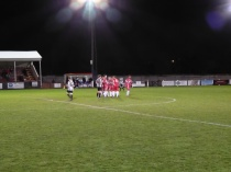 The Wood celebrate scoring their second goal. The cry was, Come on the Wood!