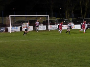 Heanor go in to overdrive as they try everything to score a goal. Wood hold firm under the barrage.