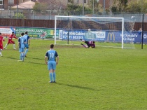 Wood's winning goal, from the penalty spot.