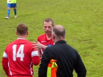 Substitution time brings appreciative applause from the spectators.