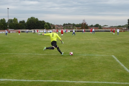 An early goal kick to Coleshill. Two excellent goalkeepers providing highlights of this contest