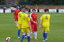 Full time is signalled and players shake hands. A hard played but sporting encounter enjoyed by spectators today.