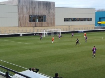 Testing time for Loughborough keeper as the Wood attack .