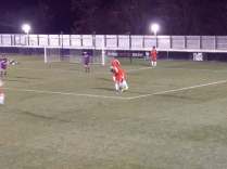 In the final few minutes of the game , a breakthrough as Wood score the first goal