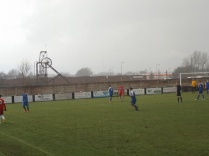 Not even a hailstorm stops today's sporting soccer action. Congratulations to both teams in such conditions.