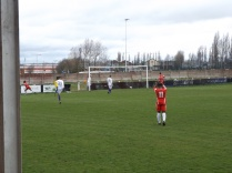 First goal to the Wood despite valiant defending by Cadbury