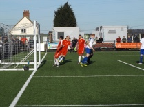 Second half and the Wood break through and come so close to scoring much to the chagrin of Coleshill defence