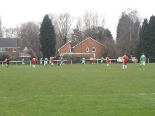 The Wood are seen here in full search and attack mode, played out in Brocton's penalty area, as the minutes, and a possible win for the Wood, seep by.