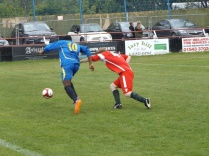 Second half sporting duel…one of many…as Tipton strive to score the equaliser