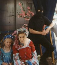 1993: Tracey Taundry, Syvlia Myatt and Paul Burton as the Executioner
