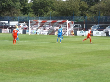 An early goal in the first half to give the Wood the lead.
