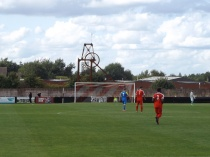English non- league soccer on a beautiful warm afternoon. Second half and a moment to savour.
