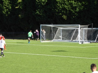 One more goal. Chelmsley's substitute goalkeeper is severely put to the test.