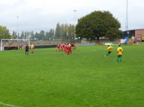 An attacking move by Bolehill, launched by one of the sturdily built players