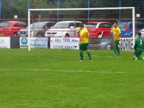 Wood pile on the agony for Bolehill as they score another goal. Second half