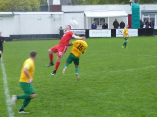 The pitch was heavy as was some of the play.