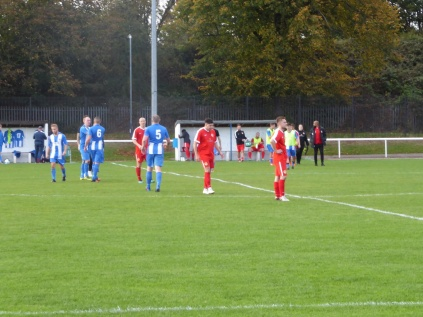 The match ends. The Wood were put to the test today by Nuneaton.