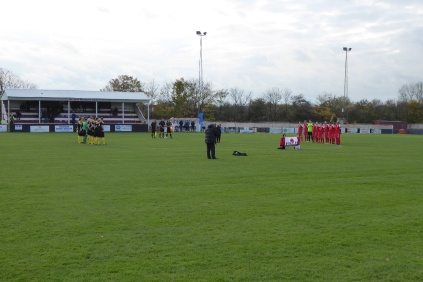 Two minutes respectful silence before the match begins on this Remembrance Day, 11 November
