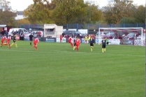 Second goal, this time from a penalty , and the home crowd lept, or were helped, to their feet.