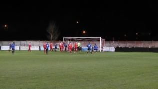 More early pressure by Wednesfield as spectators huddle and shiver as the cold reaches through…