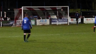 Late in the first half a breakthrough first goal, to the Wood. How will Wednesfield respond?