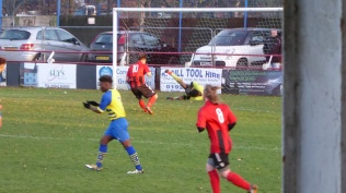 Fine save by Moors goalkeeper.