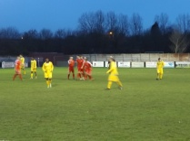 Second half celebration time, in the gathering gloom of Boxing Day, and the Wood are un-stoppable