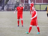 Non-verbal communication, here with the linesman. Captain Splendid makes a point.