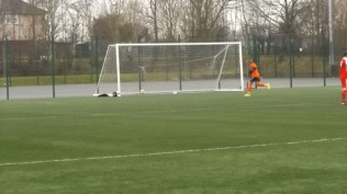 Goal to the Villa and its quickly back to play some more. On plastic, in the rain.